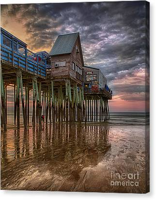 Sunrise Old Orchard Beach Canvas Print by Jerry Fornarotto