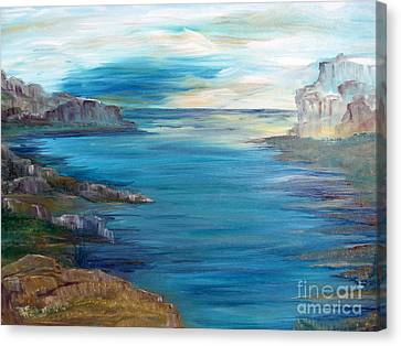 Sunrise On A Great Lake Canvas Print