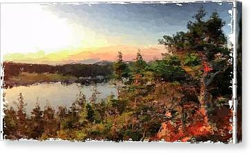 Sunrise On Bungie's Head Isle Au Haut Maine Canvas Print by Mary Fennell