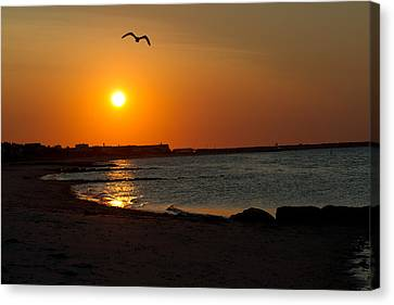 Canvas Print featuring the photograph Sunrise On Cape Cod by John Hoey