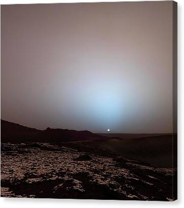 Sunrise On Mars Canvas Print by Detlev Van Ravenswaay