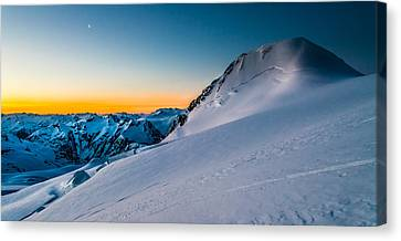 Sunrise On Mount Garibaldi Canvas Print by Ian Stotesbury