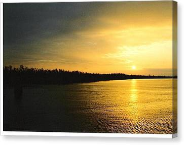 Canvas Print featuring the photograph Sunrise On Ole Man River by Michael Hoard