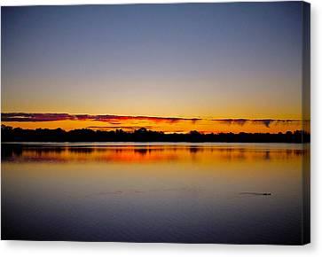 Sunrise On Riviere Des Mille-iles Canvas Print by Juergen Weiss
