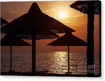 Sunrise On The Beach Canvas Print by Jane Rix