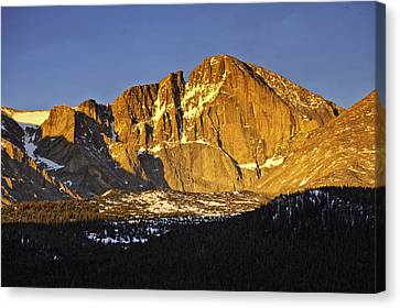 Sunrise On The Diamond Canvas Print by Tom Wilbert