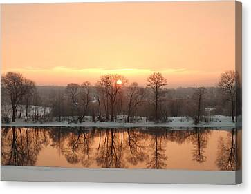 Sunrise On The Ema River Canvas Print
