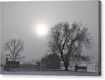 Fort Missoula Canvas Print - Sunrise On The Fort by Stephan Ferry