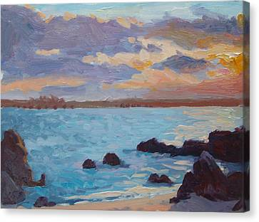 Sunrise On The Grotto Canvas Print by Dianne Panarelli Miller