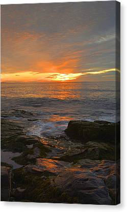 Sunrise On The Gulf Of Maine Canvas Print by Stephen  Vecchiotti