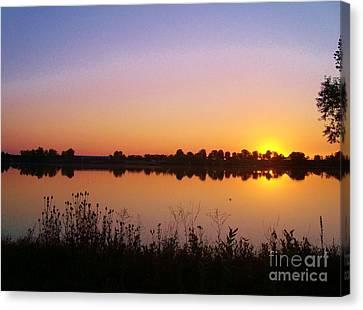 Sunrise On The Lake Canvas Print