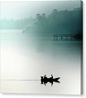 Pairs Canvas Print - Sunrise On The Nile by Piet Flour