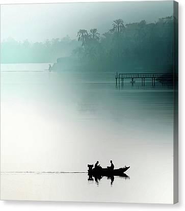 Sunrise On The Nile Canvas Print