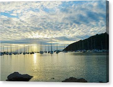 Sunrise On The Sea Canvas Print