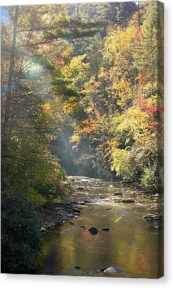 Canvas Print featuring the photograph Sunrise On The Telico River by Robert Camp