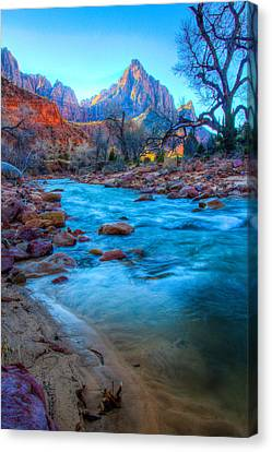 Sunrise On The Virgin River Canvas Print