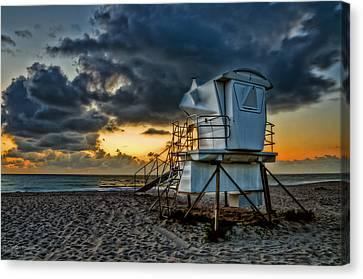 Sunrise On Vero Beach Hdr 1 Canvas Print