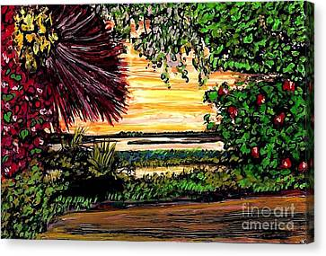 Sunrise On Wadmalaw Island Canvas Print by Sarah Loft