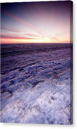 Sunrise Over A Frozen Beaufort Sea Canvas Print