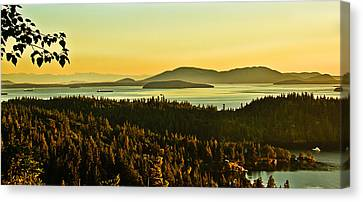 Sunrise Over Bellingham Bay Canvas Print by Robert Bales