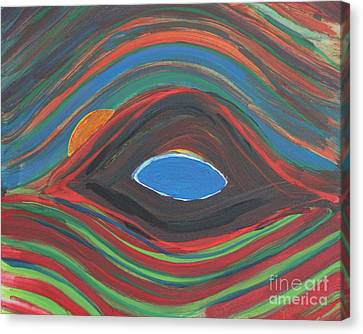 Sunrise Over Blue Ridge Mountain Lake Canvas Print