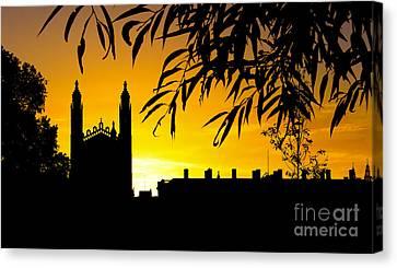 Sunrise Over Cambridge Canvas Print by David Warrington