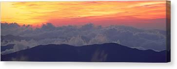 Sunrise Over Clingmans Dome, Great Canvas Print