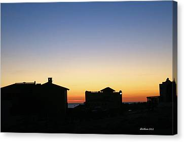 Canvas Print featuring the photograph Sunrise Over Cortez by Dick Botkin