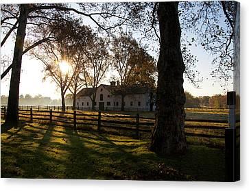 Sunrise Over Widener Farm Canvas Print