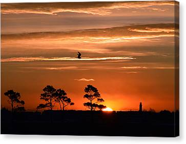 Sunrise Over Fenwick Island Canvas Print by Bill Swartwout
