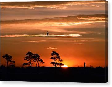 Sunrise Over Fenwick Island Canvas Print