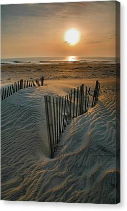 Sunrise Over Hatteras Canvas Print by Steven Ainsworth