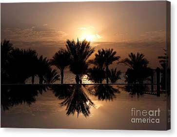 Sunrise Over Infinity Pool Canvas Print