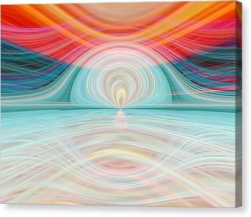 Sunrise Over Jupiter Canvas Print by Tom Druin