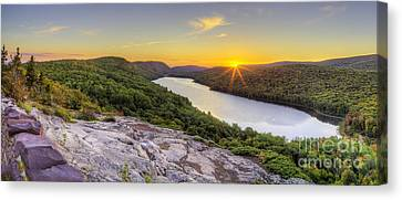 Sunrise Over Lake Of The Clouds Canvas Print by Twenty Two North Photography