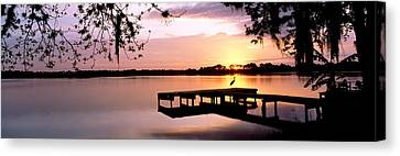 Sunrise Over Lake Whippoorwill Canvas Print by Panoramic Images
