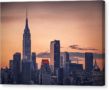 Manhattan Sunrise Canvas Print
