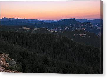 Sunrise Over Moonset Canvas Print