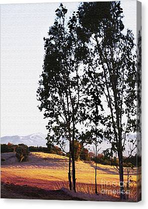 Sunrise Over Northern California Hills Canvas Print by Artist and Photographer Laura Wrede