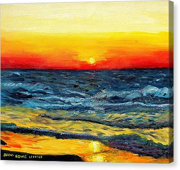 Canvas Print featuring the painting Sunrise Over Paradise by Shana Rowe Jackson