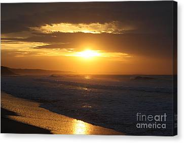 Morn Canvas Print - Sunrise Over Point Lonsdale by Linda Lees