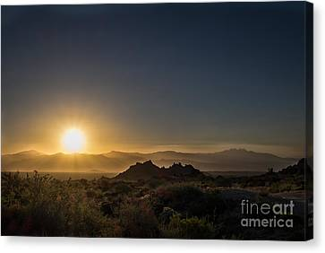 Sunrise Over Rock Knob Canvas Print