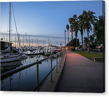 Sunrise Over Santa Barbara Marina Canvas Print