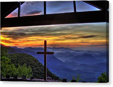 Sunrise Over Sc From Nc Canvas Print by Reid Callaway