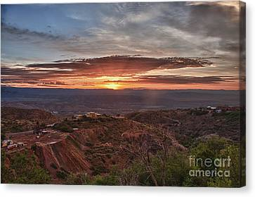 Sunrise Over Sedona With The Jerome State Park Canvas Print