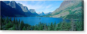 Sunrise Over St. Mary Lake, Glacier Canvas Print by Panoramic Images