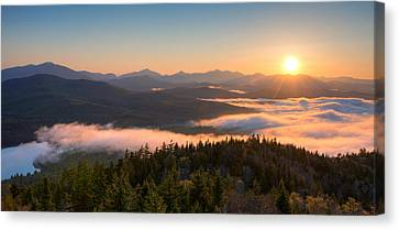 Non People Canvas Print - Sunrise Over The Adirondack High Peaks by Panoramic Images