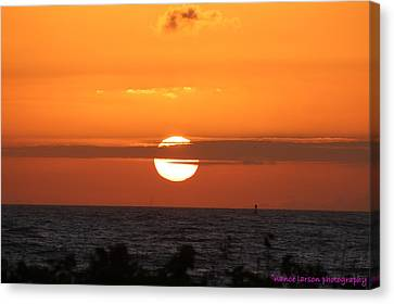 Sunrise Over The Atlantic Canvas Print