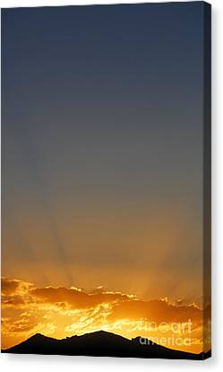 Kyrgyzstan Canvas Print - Sunrise Over The Mountains In Kyrgyzstan by Robert Preston