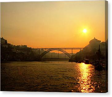 Sunrise Over The River Canvas Print